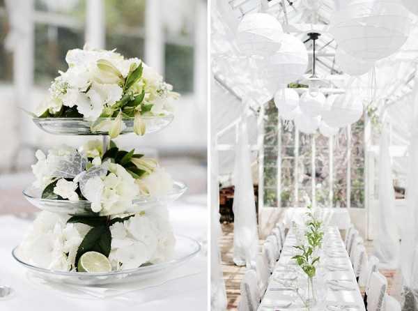 Decoración blanca para bodas