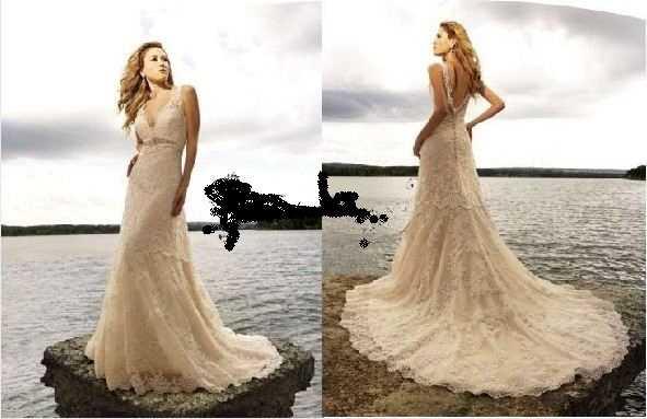 Vestido de bodas color marfil